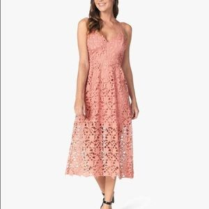 ASTR the label Maeve pink cutout dress XS